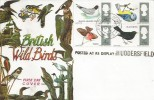 1966 British Birds, Connoisseur FDC, Field Post Office 1015 cds, Posted at Re Display Huddersfield Cachet.