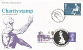 1975 Charity, Post Office FDC, First Day of Issue Philatelic Bureau H/S, doubled with 1995 £1 Machin & £3 Carrickfergus Castle Issue date, Ian Haydon Paralympic Ride Penzance H/S.