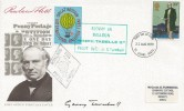 1979 Sir Rowland Hill, Post Office FDC, 10p Stamp only, St. Albans FDI, Flown by Balloon Cachets, Signed by Balloon Pilot Gerry Turnbull.