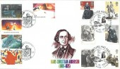 2005 Jane Eyre, Peter Payne Hans Christian Anderson Official FDC, Literature & Fables Stories Road London SE5 H/S, doubled with Belgium Stamps