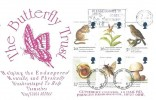 1998 Endangered Species, Cuthbert Covers FDC, Please Donate to The Butterfly Trust Northampton Slogan.