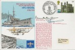 1978 First Launch of Aircraft from Ship Under Way, HMS Hibernia Commemorative Cover, Signed by Mountbatten of Burma Admiral of the Fleet and Major Sampson.