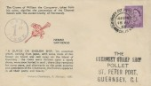 1958 Guernsey Regional, Illustrated FDC, St. Peter Port Guernsey Ch. Is. cds.