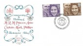 1973 Royal Wedding, Stuart FDC, Royal Wedding Celebrations Great Somerford Chippenham Wilts. H/S.