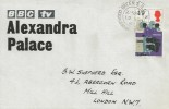 1967 British Discoveries, BBC Alexandra Palace FDC, 1/9d Television Camera Stamp only, Wood Green N22 cds.