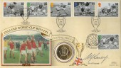 1996 Football Legends Benham Coin FDC, signed by Sir Alf Ramsey