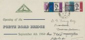 1964, Forth Road Bridge, North Herts. Stamp Club FDC, Royston Herts. cds.