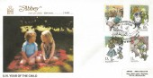 1979 Year of the Child, Abbey FDC, Methuen Commemorate the Centenary of E H Shepard The Illustrator of Winnie-the-Pooh Hartfield East Sussex H/S.