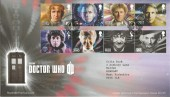 2013 Doctor Who, Royal Mail FDC, First Day of Issue Cardiff H/S.