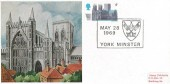 1969 British Cathedrals, Cameo Maxicard, 5d York Minster Stamp, York Minster H/S.