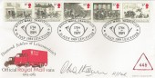 1984, The Royal Mail, Leicestershire Museum of Technology Official FDC, Royal Mail Transport Leicester 1784 - 1984 H/S, Signed.