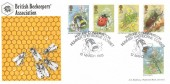1985, British Insects, Bradbury Beekeepers' Association FDC, Nature Conservation Hummer Sherborne Dorset H/S.
