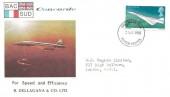 1969 Concorde, BAC Concorde B. Dellagana & Co. Ltd. FDC, 4d stamp only, Filton Bristol FDI.