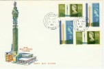 1965 Post Office Tower Phosphor & Ordinary Stamps on one FDC