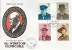 1974 Winston Churchill, Benham Engraved FDC, Tunbridge Wells Kent FDI, Posted at Chartwell Cachet.