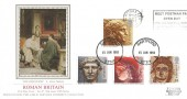 1993 Roman Britain, PPS Silk Sotheby's Collection FDC, Meet Postman Pat Open Day Royal Mail Dartford Slogan.