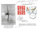 2000, 60th Anniversary of the Beginning of the Battle of Britain, R J Mitchell Spitfire Label, New Romney Kent cds, Signed.