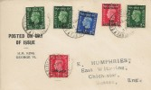 1937 KGVI First Definitive Overprints on Display FDC,  British Post Office Tangier cds