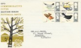 1966 British Birds (Phosphor) Illustrated FDC, Philatelic Bureau EC1 H/S