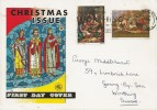 1967 Christmas, Wessex FDC, Worthing for Home or Holidays on the Warm Sussex Coast Slogan.