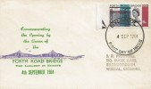1964 Forth Road Bridge, Illustrated FDC, Phosphor 6d Stamp Only, Liverpool FDI.