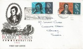 1966 Robert Burns, Illustrated FDC, Visit Crawley Best New Towns Slogan.