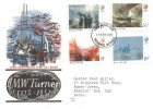 1975 J. M. W Turner Paintings Benham Woodcut FDC, Reading Berks. FDI