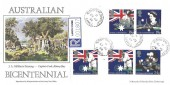 1988 Australian Bicentenary, Registered Stan Muscroft FDC, Botany Bay Chorley Lancs. cds.