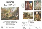 1968 British Paintings, Wessex FDC, Have You Taken Out Your Licence For Radio-TV? Slogan Folkestone + cds.