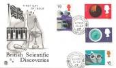 1967 British Discoveries, Stuart FDC, Bovington Camp Wareham Dorset cds.