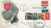 1965 Salvation Army, Fleetwood FDC, Double dated with 1965 US Salvation Army 5c Stamp, London WC FDI.