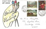 1967 Paintings, Illustrated FDC, Watchfield Swindon Wilts. cds.