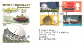 1966 British Technology, Coloured Stuart FDC, Liverpool FDI.