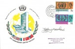 1965, United Nations & International Co-operation Year, Conniosseur FDC, Fareham cds, Signed by the Stamp Designer Jeffrey Matthews.