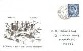 1966, 4d Welsh Regional, Conway Castle and Bont Newydd FDC, Conway Caernarvon cds.