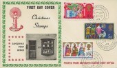 1969 Christmas, Sanquhar Post Office FDC, Sanquhar Dumfriesshire cds.