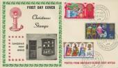 1969 Christmas, Sanquhar Post Office FDC, Sanquhar Dumfriesshire cds.