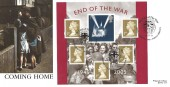 2005 End of the War Miniature Sheet, Forces Official FDC, End of The War British Forces 2865 Postal Service H/S.