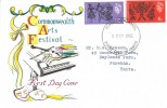 1965, Commonwealth Arts Festival, Connoisseur FDC, Portsmouth Hants. cds.