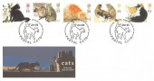 1995 Cats, Royal Mail FDC, Postal Cats National Postal Museum London EC H/S.