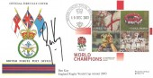 2003 Rugby World Champions, Tri - Forces FDC, British Forces Postal Service 1000 H/S, Signed by Ben Kay, England World Cup Winner 2003.