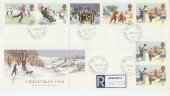 1990 Christmas FDC Holy Island cds