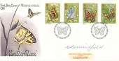 1981 Butterflies, Save the Children Fund FDC, First Day of Issue London SW H/S, Signed by Gordon Beningfield Stamp Designer.