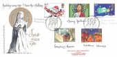 1981 Christmas, Save the Children Fund FDC, First Day of Issue Philatelic Bureau Edinburgh H/S, Signed by all 5 Stamp Designers.