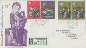 1970 Christmas, Registered Post Office FDC, Windsor Castle Windsor Berks. cds.