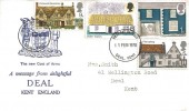 1970 British Rural Architecture, A Message from delightful Deal Kent FDC, Deal Kent FDI.