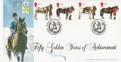 1997, All the Queen's Horses, Bradbury LFDC No.151 Official FDC, The British Horse Society 1947 - 1997 Stoneleigh Kenilworth H/S, Signed by Lord Vestey.
