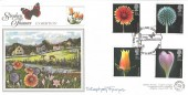 1987 Flowers, Stephen Thomas Exhibition, Greenberg & Porter Official FDC, Stephen Thomas Flora & Fauna Exhibition Ovingdean Brighton H/S, Signed.