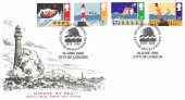 1985, Safety at Sea, Royal Mail FDC, Sealion Shipping Tenth Anniversary 1975 - 1985 City of London H/S.