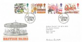 1983 British Fairs, Royal Mail FDC, First Day of Issue Philatelic Bureau Edinburgh H/S, Signed by Andrew Restall Stamp Designer.